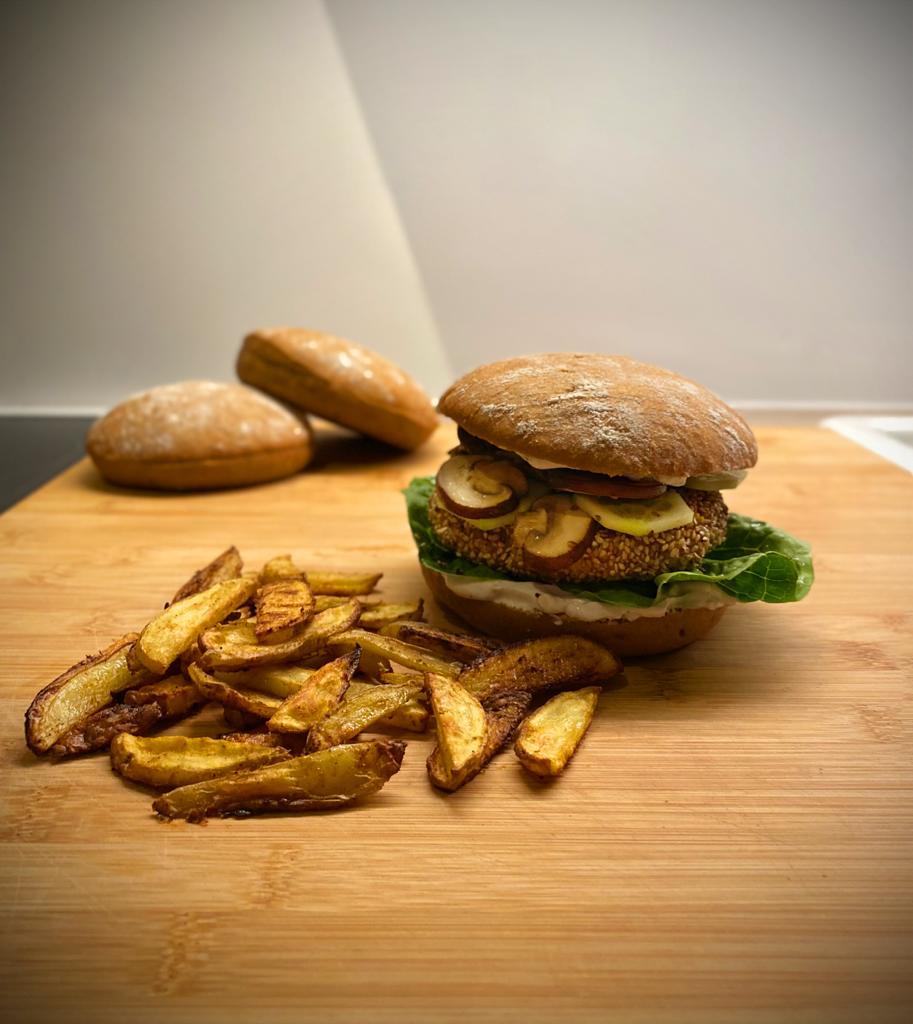 Bild von veganen Burgern